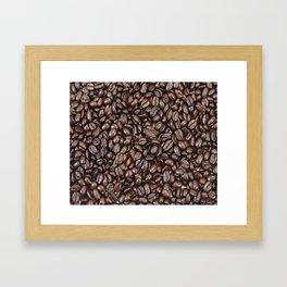Roasted Dark Colombian Coffee Beans Framed Art Print