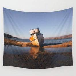 Abandoned Shipwreck - Point Reyes, California Wall Tapestry