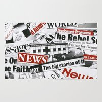 targaryen Area & Throw Rugs featuring News Branded by bimorecreative