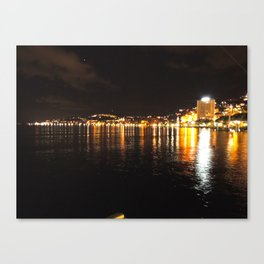 Montreux at Night Canvas Print
