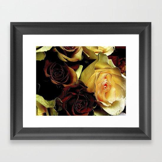 LOVE over GOLD Framed Art Print