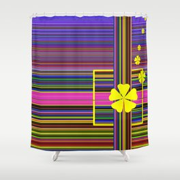 GRAPHIC POP of FLOWERS Shower Curtain