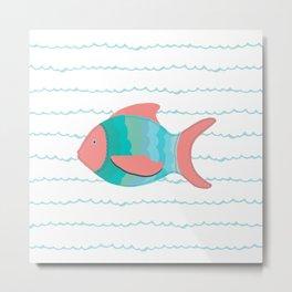 Pink Fish Metal Print