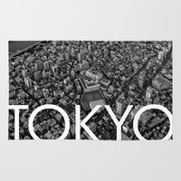 tokyo Area & Throw Rugs featuring TOKYO by Rothko