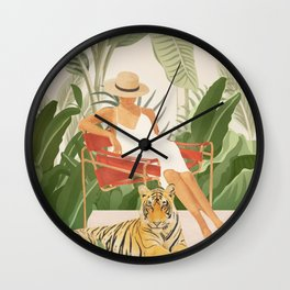 The Lady and the Tiger II Wall Clock