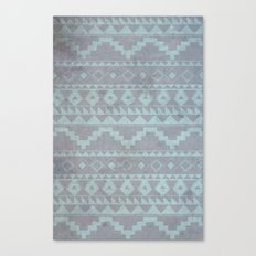 Mint & Gray pattern Canvas Print