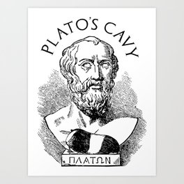 Plato's Cavy - The Allegory of the Cage Art Print