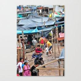Pucallpa River Market - Peru Canvas Print