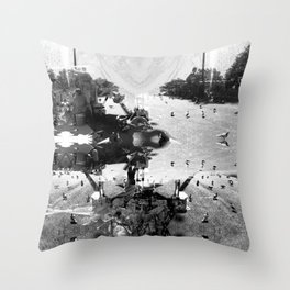 Summer space, smelting selves, simmer shimmers. [extra, 7, grayscale version] Throw Pillow