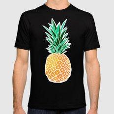 Pineapple Black Mens Fitted Tee MEDIUM