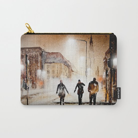Britain's cold night in warm colors. Carry-All Pouch