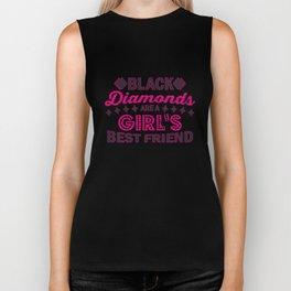 Black Diamonds Girl's Best Friend - Funny Poker Pun Gift Biker Tank