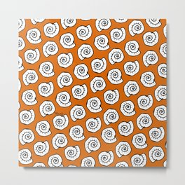 Snail - Pop art sea pattern Metal Print