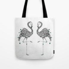 Poetic Flamingo Tote Bag
