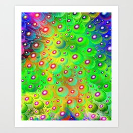 A Crash of Colors, fantasy art Art Print