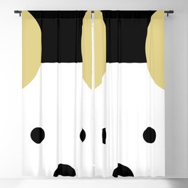Peek-a-Boo Mouse with Gold Ears Blackout Curtain