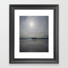calm on the lake Framed Art Print