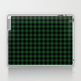 Original Forest Green and Black Rustic Cowboy Cabin Buffalo Check Laptop & iPad Skin