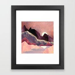 Blush Vista Framed Art Print