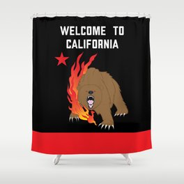 Welcome to California Shower Curtain