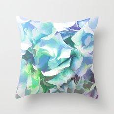 Hydrangea in a Pastel Light Throw Pillow