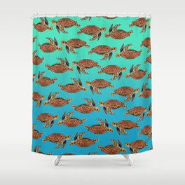 Sea Turtle Pattern Shower Curtain