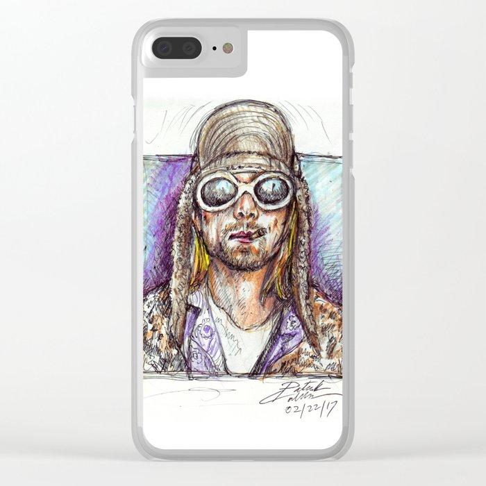 Cobain Clear iPhone Case