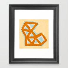 Vintage triangles Framed Art Print