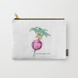 Beet: My Heart Skips A Beet Carry-All Pouch
