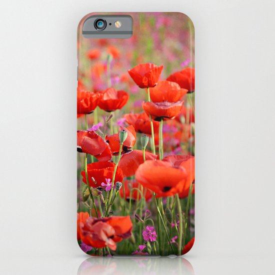 Poppies in Spring iPhone & iPod Case