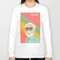 hayao miyazaki Long Sleeve T-shirts featuring Miyazaki by Perry Misloski