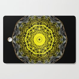 Yellow black design Cutting Board