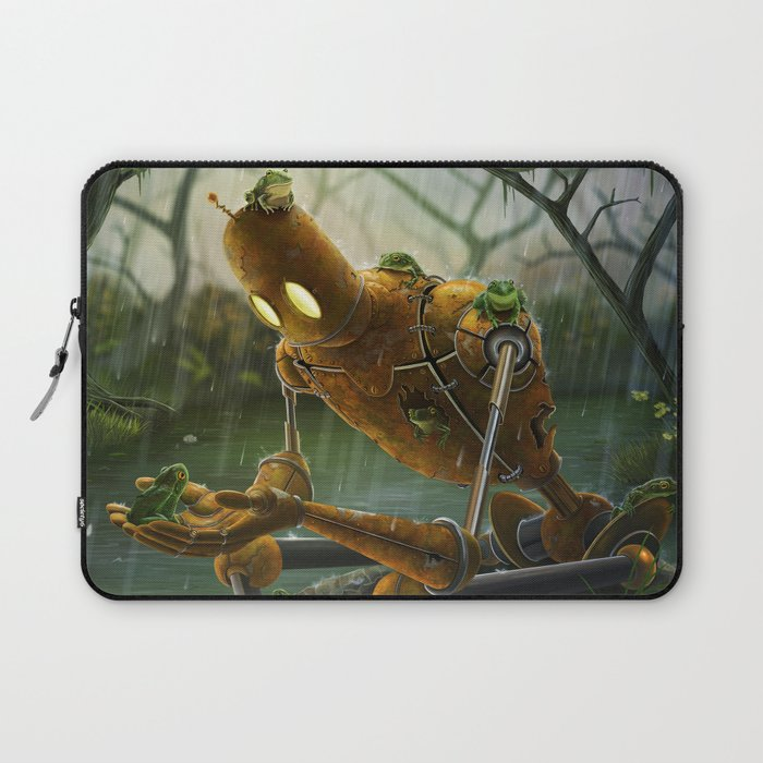 Rust,Rain, and Ribbits Laptop Sleeve