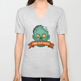 Zombies ate my pancreas - Diabetes Awareness Unisex V-Neck
