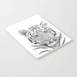 Black and white tiger Notebook