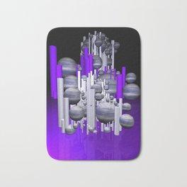 deco violet-white-black -1- Bath Mat