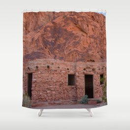 CCC Cabins-1, Valley of Fire State Park, Nevada Shower Curtain