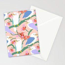 Kookaburra Birds + Little Kurrajong Flowers Stationery Cards