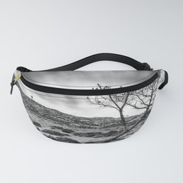 Windy day on the mountain Fanny Pack