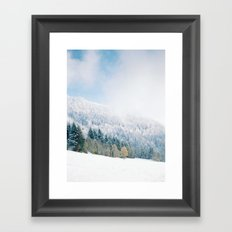 White Forest - French Alps Framed Art Print
