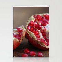 pomegranate Stationery Cards featuring pomegranate by Life Through the Lens