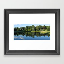 campground realistic pond 2, mugs Framed Art Print