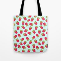 fries Tote Bags featuring Fries by weheartstore