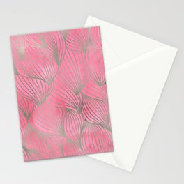 Pretty Pink Palm Petal Print Stationery Cards