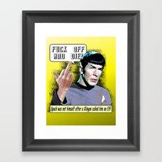 Spock.... Framed Art Print