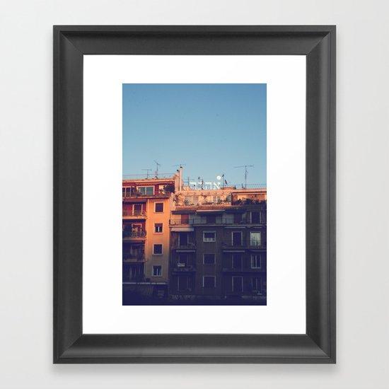 Ahava at Dusk Framed Art Print