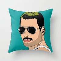 comics Throw Pillows featuring comics   by mark ashkenazi