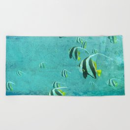 Into the blue Beach Towel