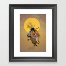 Cholita on the run Framed Art Print