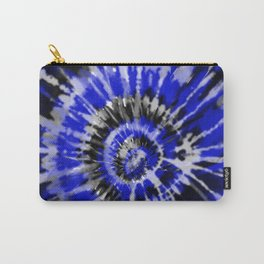 Dark Blue Tie Dye Carry-All Pouch